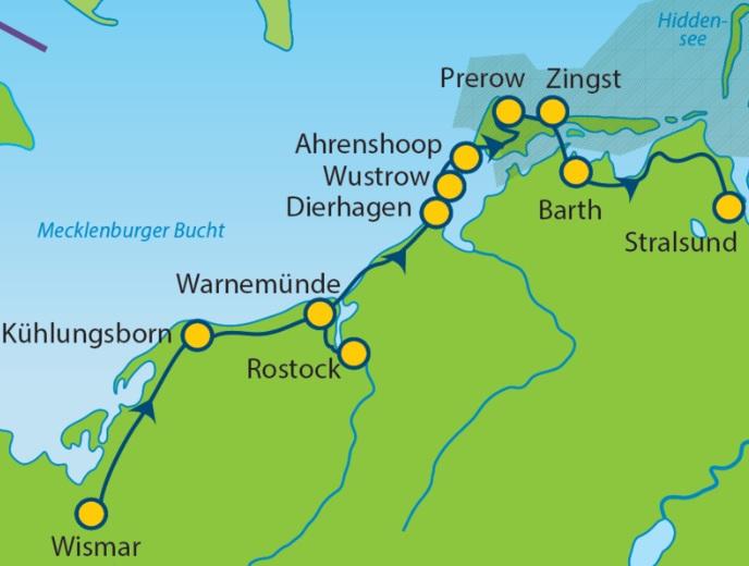 Stralsund Karte.Mec 08 Bt Wismar Stralsund Ostsee Radtouren