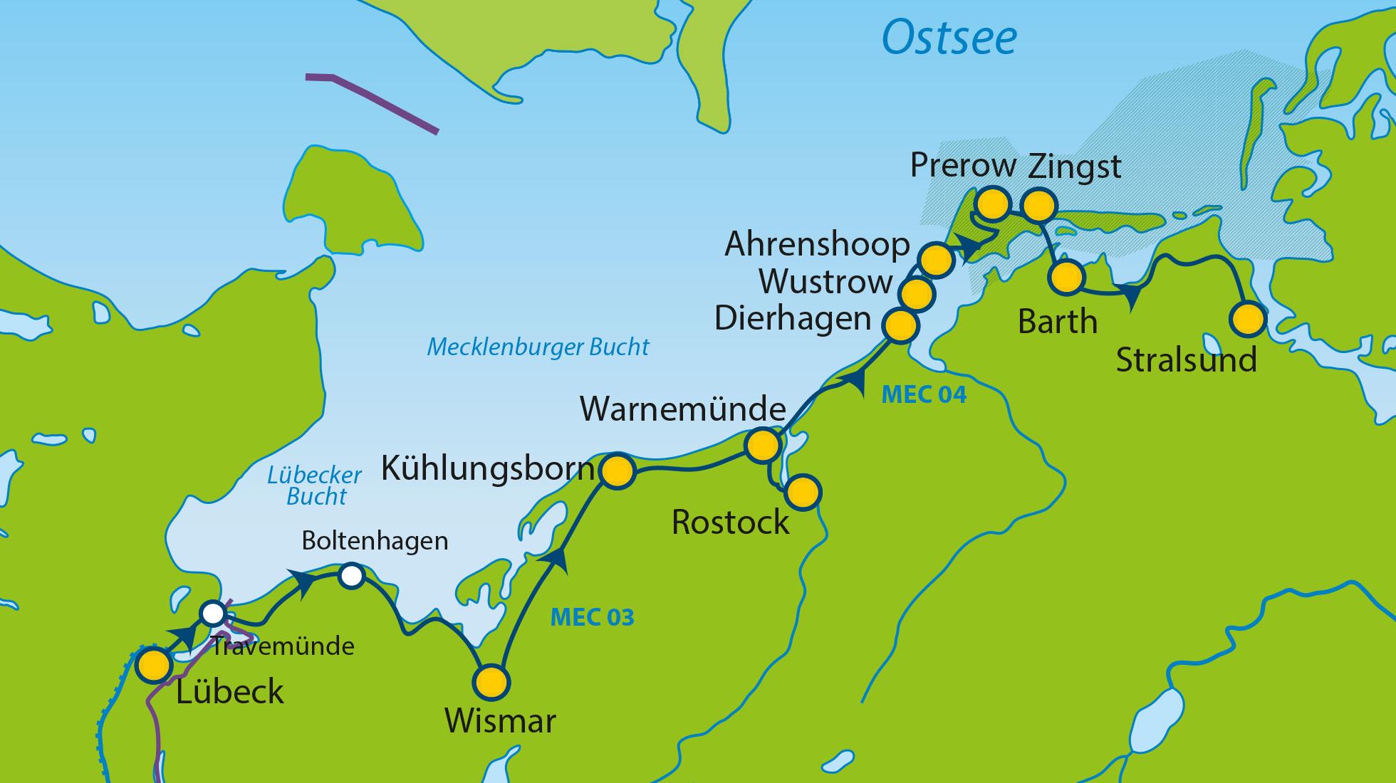 Ostseeküstenradweg Karte Kostenlos