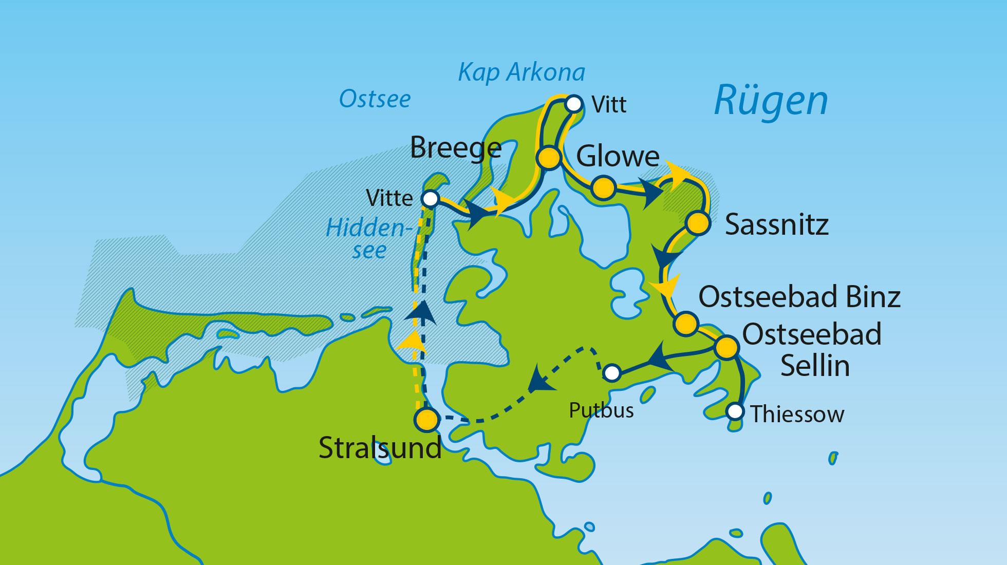 Ostsee Karte Rügen.Rüg Ke06 08 Insel Rügen Ostsee Radtouren
